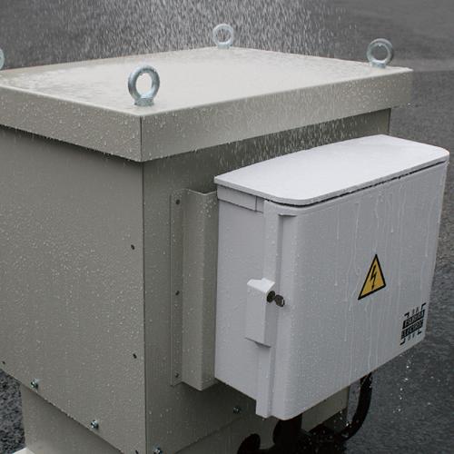 >防水対策テスト IP44 防水保護構造